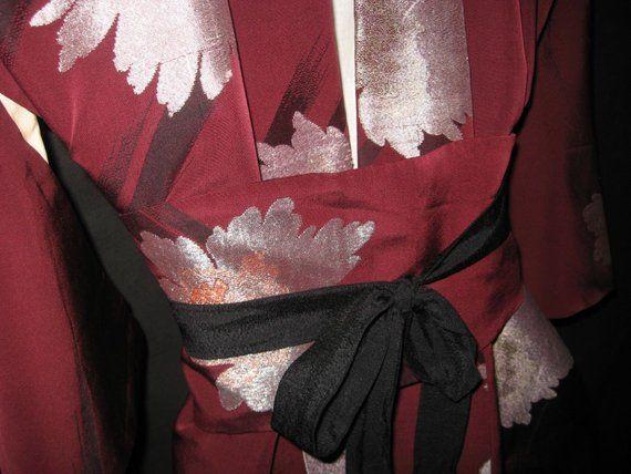 kimono vintage gekuerzt kimonomantel kimonokleid mit etsy