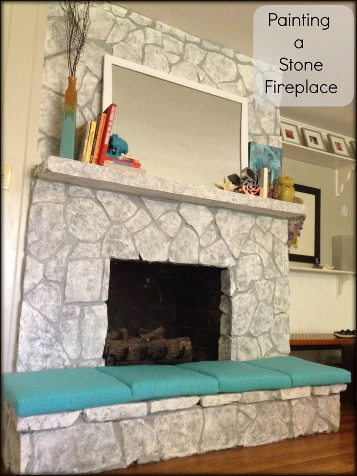 17 Best Ideas About Painted Stone Fireplace On Pinterest