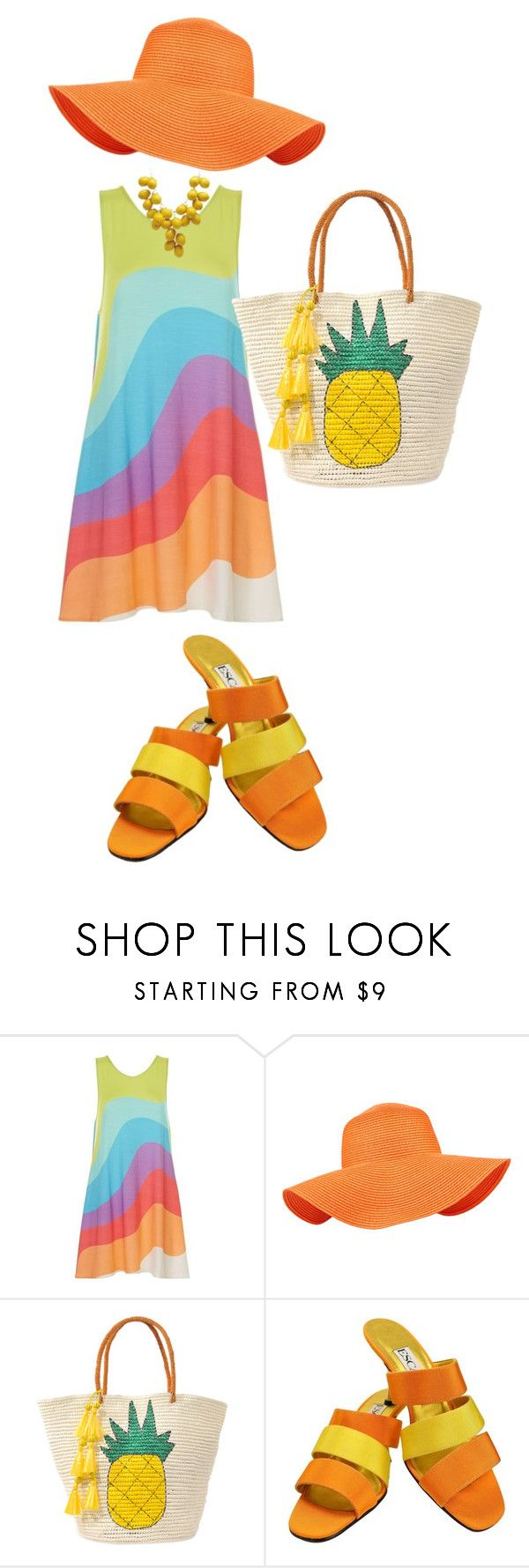 """summer"" by dorota-kujawa ❤ liked on Polyvore featuring Mara Hoffman, Accessorize, Sensi Studio and ESCADA"