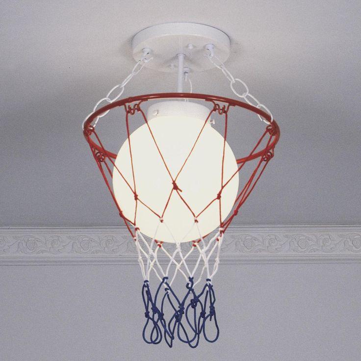 Basketball And Net Ceiling Light. Basketball NetsBasketball Room DecorBasketball  ...