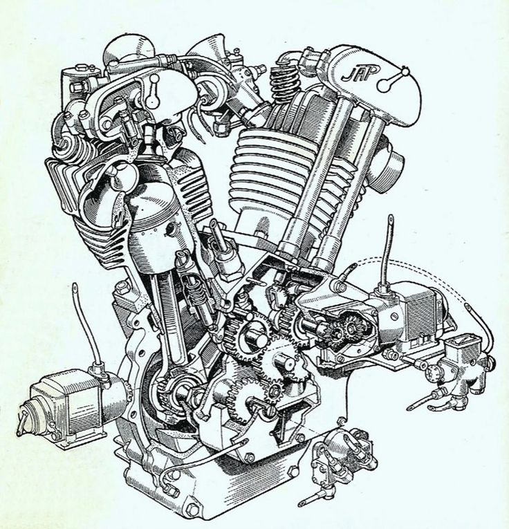 early OHV engines (like this John Alfred Prestwich V-twin