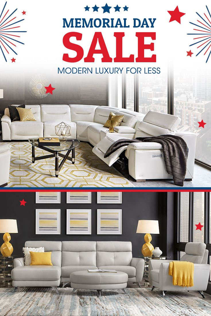 Get modern luxury for less now during our memorial day sale great living rooms great prices only at rooms to go