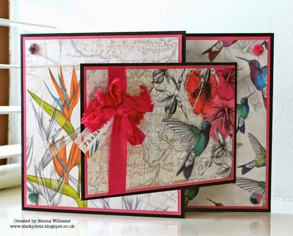 Birds of a Feather Fancy Fold Card - Paradise Collection