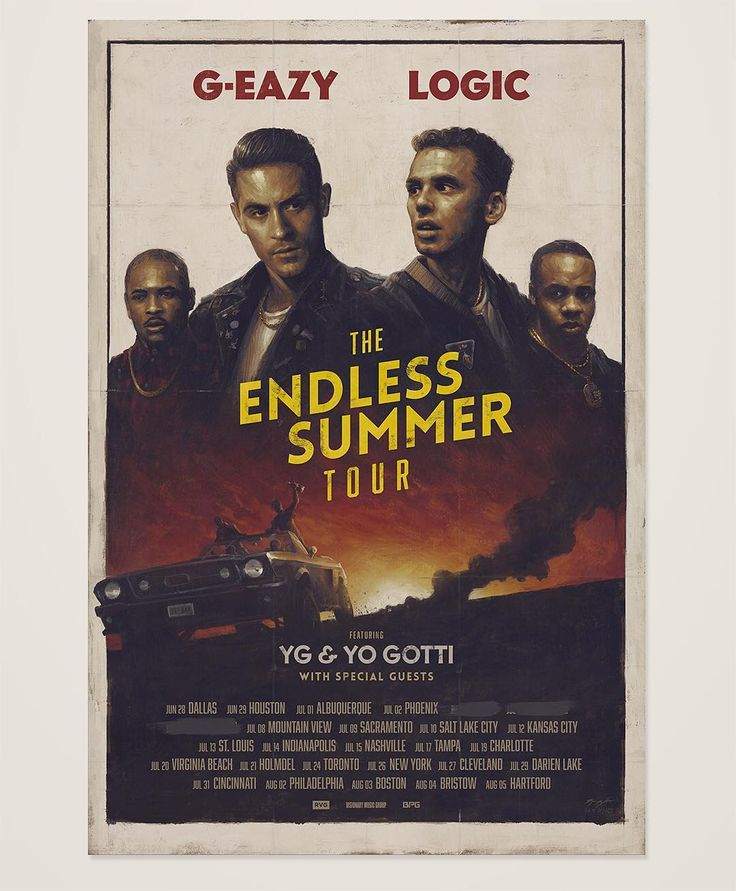 G-Eazy & Logic Tour Poster by Sam Spratt