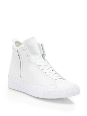 CONVERSE Chuck Taylor Selene Leather High-Top Sneakers. #converse #shoes #sneakers