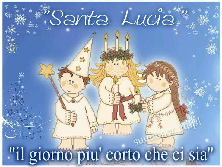 Lucia my saint and my name lol :)