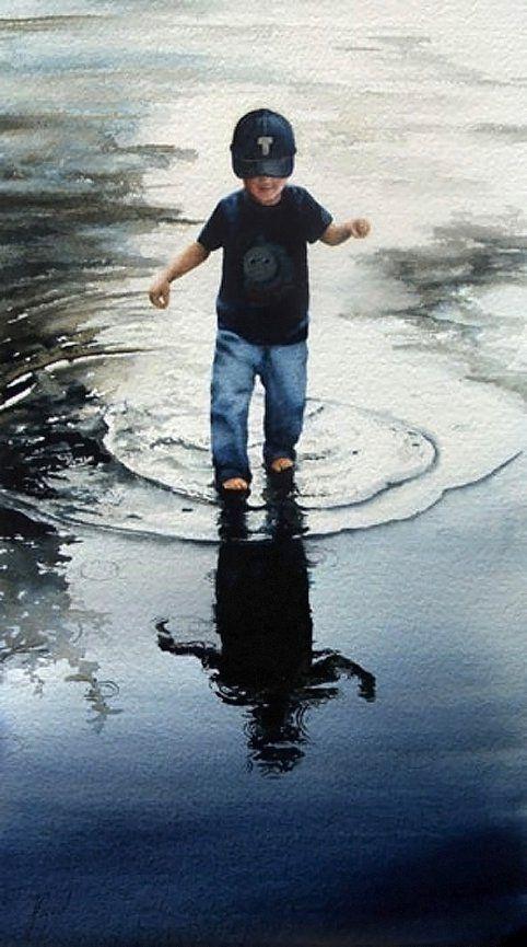 "Jill Poyerd Watercolors - Watercolor Figures ""reflections"""
