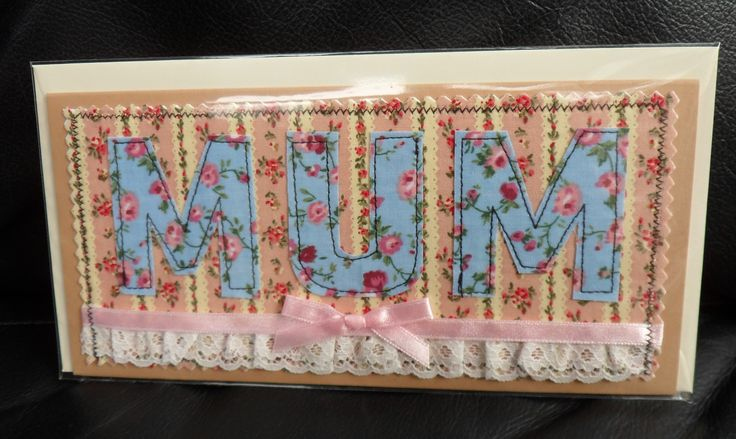 machine sewn fabric card
