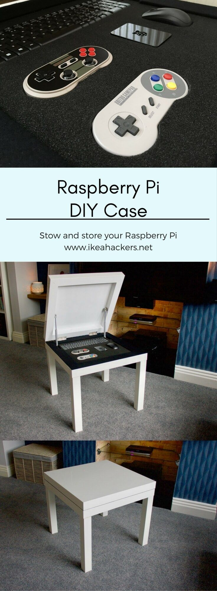 IKEA LACK Raspberry Pi Case / Storage Table http://www.ikeahackers.net/2017/09/lack-raspberry-pi-case-storage.html