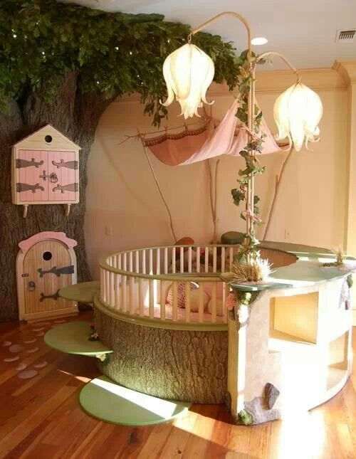 Baby girls room.. so beautiful and different