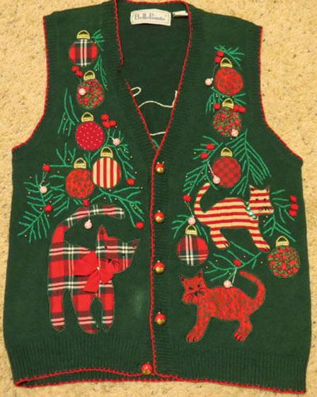 Ugly, Festive (Sexy?) Christmas Sweaters With Cats on Them - The Cut