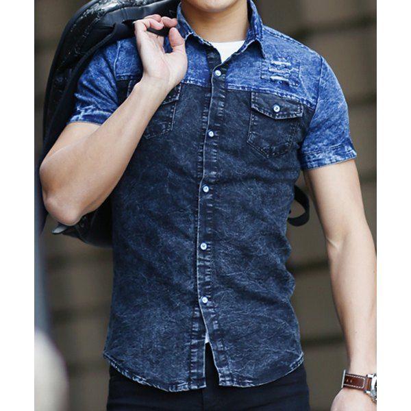 62 best Men's Denim Shirts images on Pinterest   Denim shirts ...