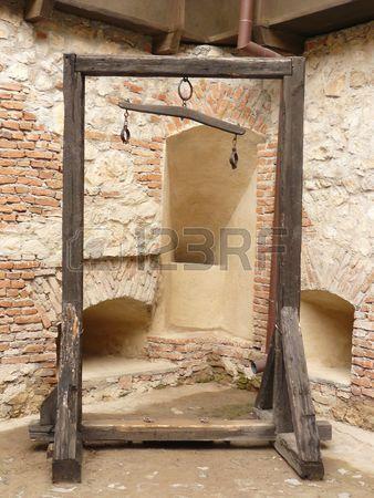 Medieval rack Stock Photo