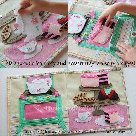 Quiet Book for Little Girls Busy Book Toddler por AnneCraftedGifts