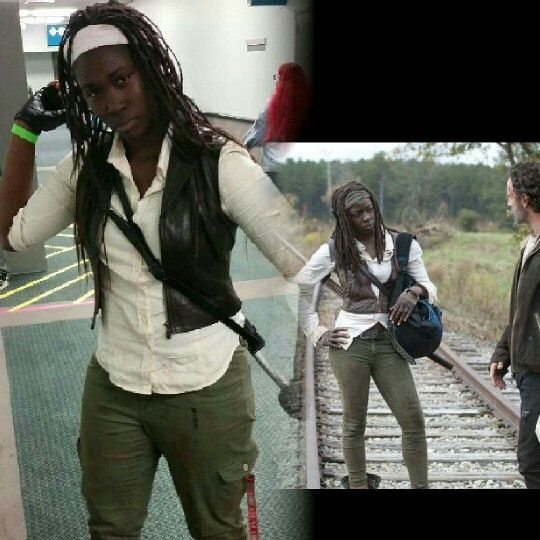 Michonne cosplay #thewalkingdead season 5 at anime expo 2015