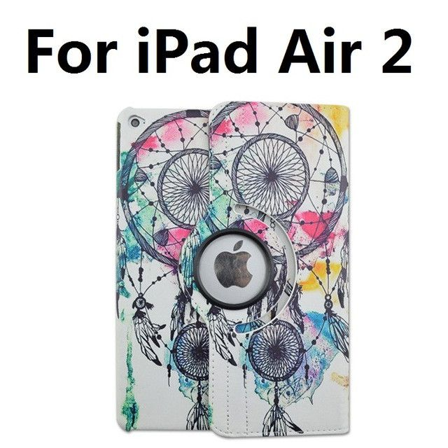 Foldable PU Leather Pad Cover with Wind Chimes Style Support 360 Degrees Rotation for iPad Air 2 Pro 9.7