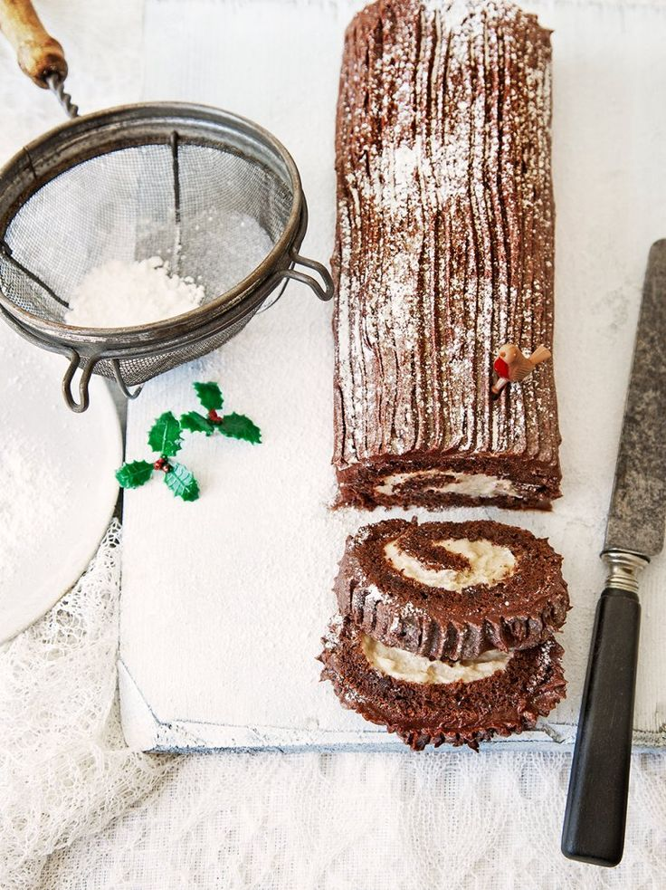 'Tis the season to indulge in @JamieOliver's decadent Chocolate Yule Log recipe