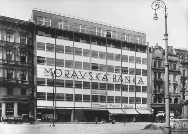 Bank, Bohuslav Fuchs & Ernst Wiesner, Brno, Czechoslovakia 1929