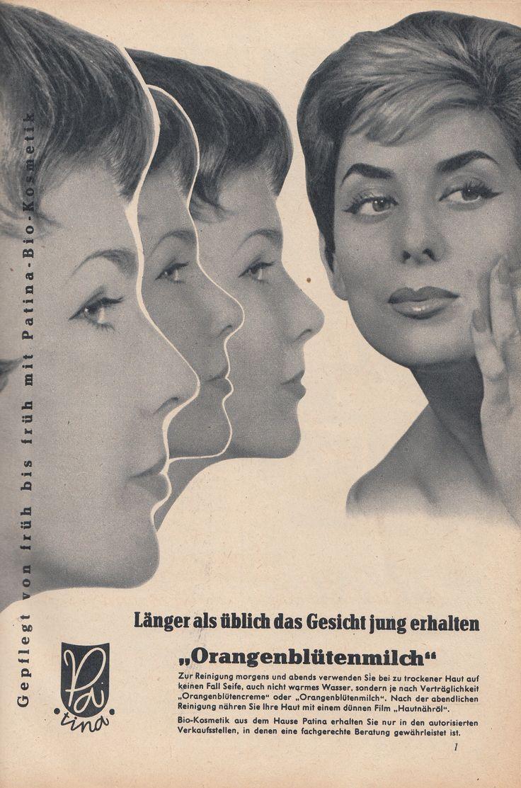 PATINA KOSMETIK DRESDEN, East German Vintage Ad, DDR Werbung, GDR, 1961