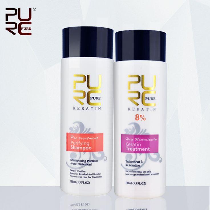 Purc braziliaanse chocolade keratine behandeling formaline 8% stijltang set voor reparatie beschadigd haar 2015 beste haarverzorging product