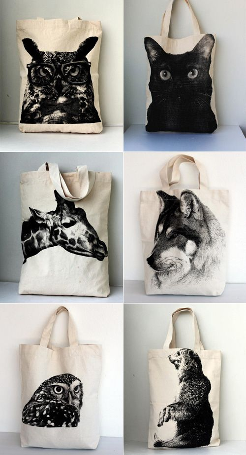 I am loving these bold animal graphics bags. You can find these designs (and many more) here starting at $19.99.