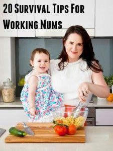 Survival tips for working moms juggling kids, home and work ... these simple tricks will help you get organized fast and keep on top of everything from meal planning to cleaning and even have some ME time!