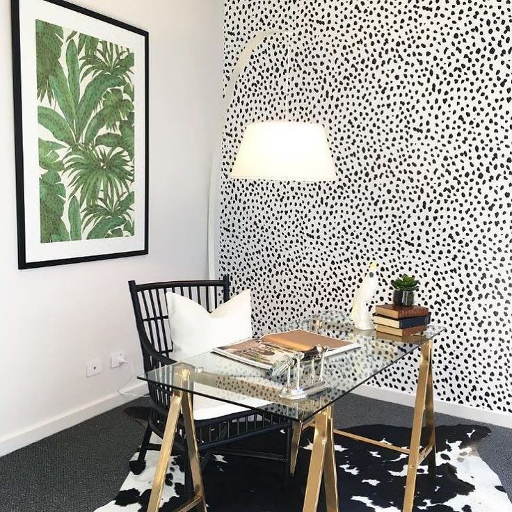 What do you think about this super cool wallpaper by @sweetpeawalldesign . .... (repost from Valiant Stylist @frostedbyamy) I'm still jumping around with excitement over this amazing Dalmatian dot wallpaper by @sweetpeawalldesign. Isn't it just fab?! My client really went all out and agreed Gorgeous framed wallpaper from @eurowalls and floor lamp from @horganslifestyle rug @unitexrugs. Pretty much a statement study! ... .. . #DisplayHome #Yarrum #hunterregion #StyleThatSells #StyledByValiant…