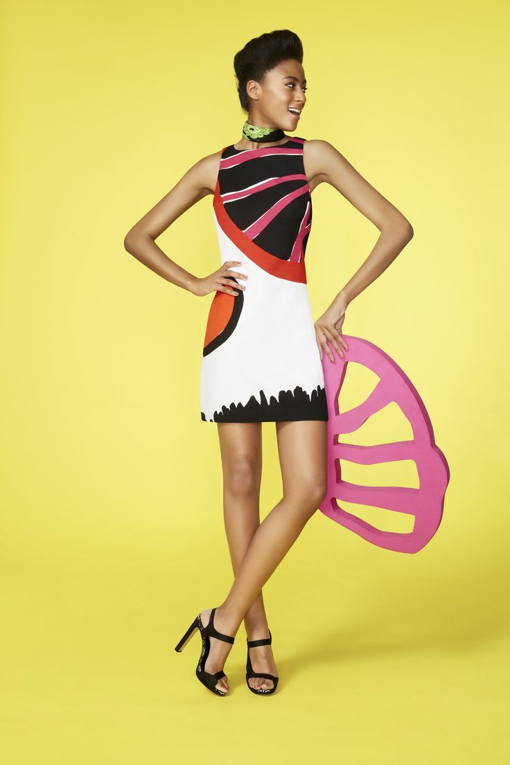 """This graphic print dress is taken from Desigual's """"Gallery"""" collection and is a work of art in itself!"""