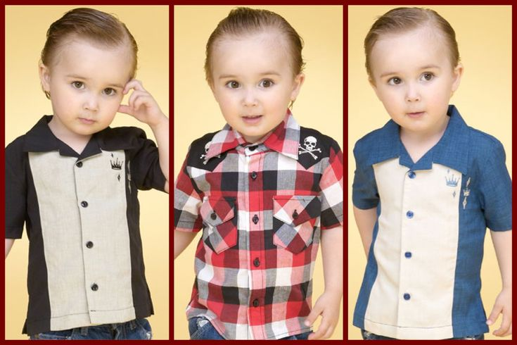 Bowling shirt. Little rockabilly boy. Too cute! Hmm maybe I can use a Oxford pab pattern for this one!