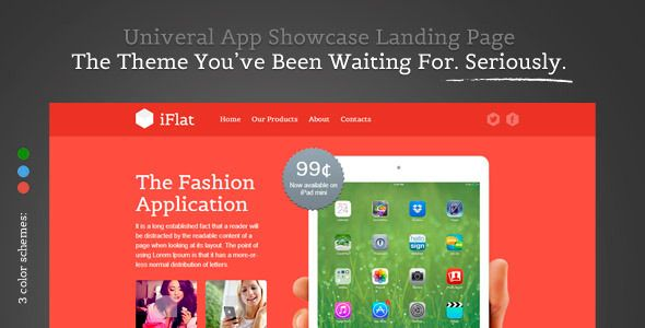 See More iFlat -  Univeral App Showcase Landing PageIn our offer link above you will see