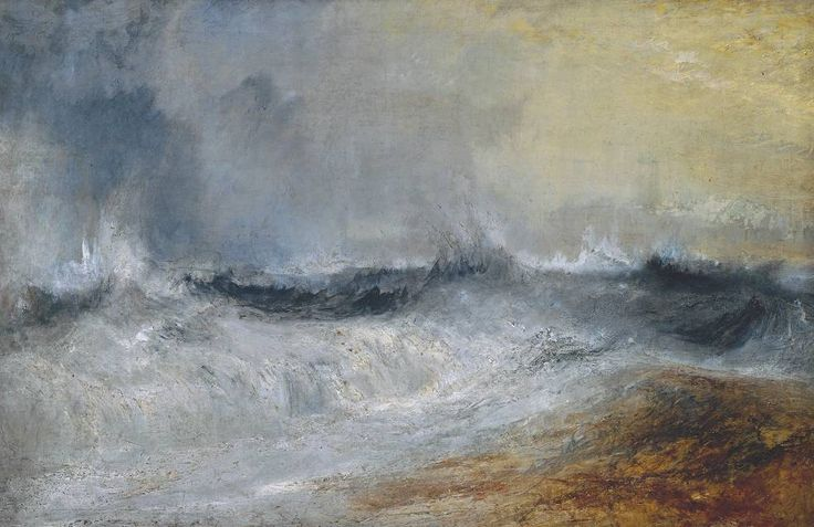 <3 Joseph Mallord William Turner, Waves Breaking against the Wind circa 1840