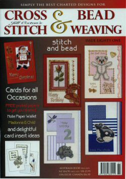 Jill Oxton's Cross Stitch & Bead Weaving Issue 81 is available from Australian Needle Arts