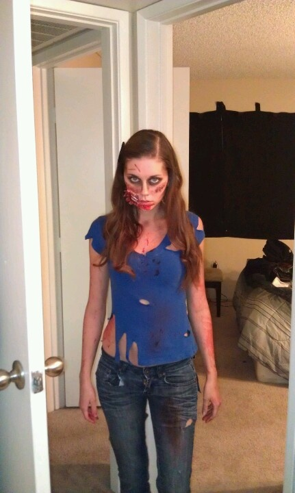 Zombie makeup (outfit for me?)