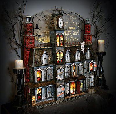 halloween shopaholic stunning victorian halloween advent house - Victorian Halloween Decorations