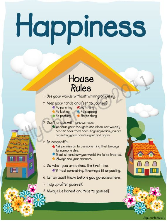 House rules asperger autism helpers pinterest for House rules chart template