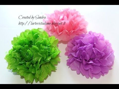 Pom pom carta velina tutorial - How to make tissue paper pom pom - Weddi...