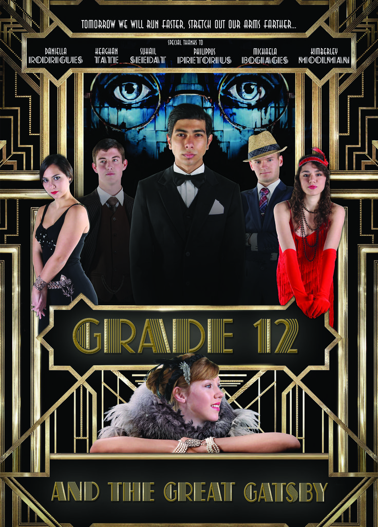Grade 12 Leader Poster: Broadway Theme