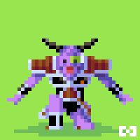 "Harmonie Games, Pixel Art : ""Geniue"" from Dragon Ball Z. Follow me on :  https://www.facebook.com/harmonie.games"