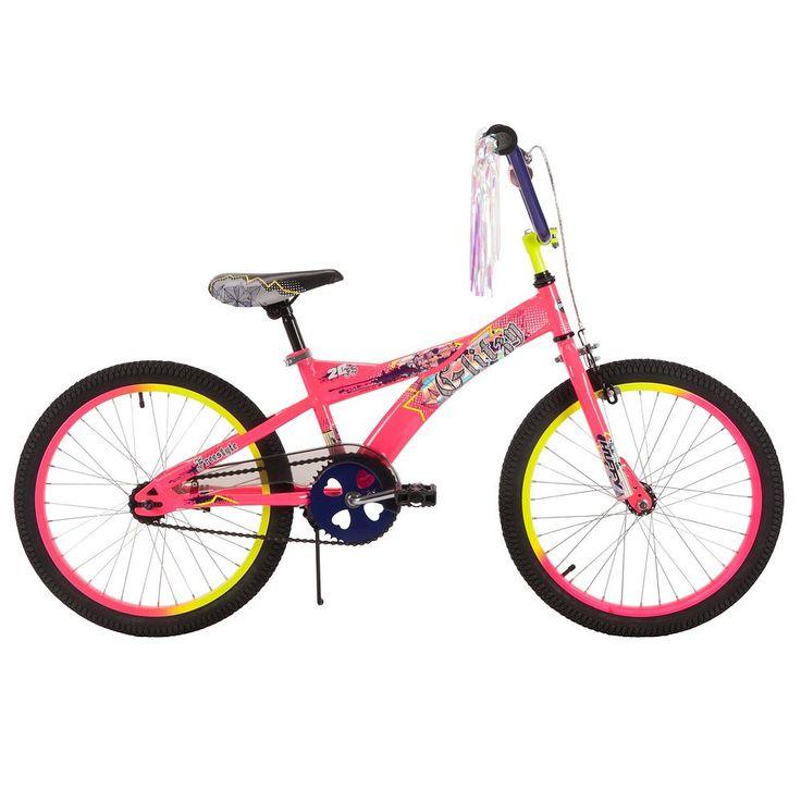 Youth Huffy 20-Inch Glitzy Bike, Pink