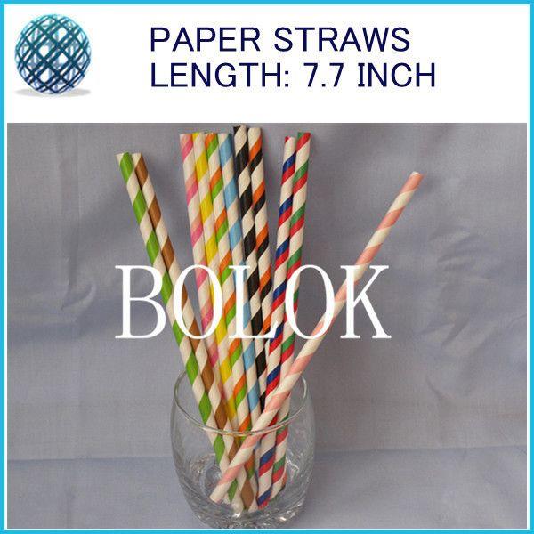 1300pcs/lot 25Packing mixed Striped Polka Dot Drinking Chevron Paper Straws, party supplies