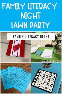 Family Literacy Night Activities It's A Lawn Party! Activities and Ideas for a successful Family Literacy Night