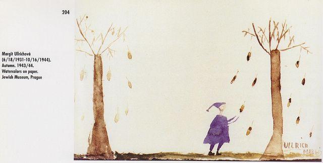 Осень, Магрит Улльрихова (18 июня 1931 – 16 октября 1944, Освенцим), Урок рисования - Фредерика «Фридл» Дикер-Брандейс - Женское творчество