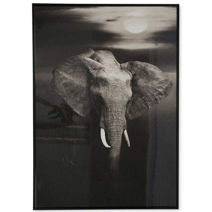 Elephant Roaming Africa Wooden Framed Wall Art $145.90
