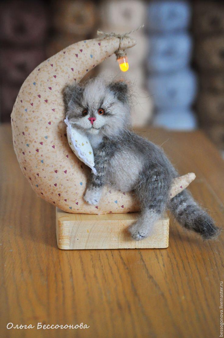 Купить НОЧНИК Лунный кот - кот, ночник, светильник, ночник в детскую, светильники ночники