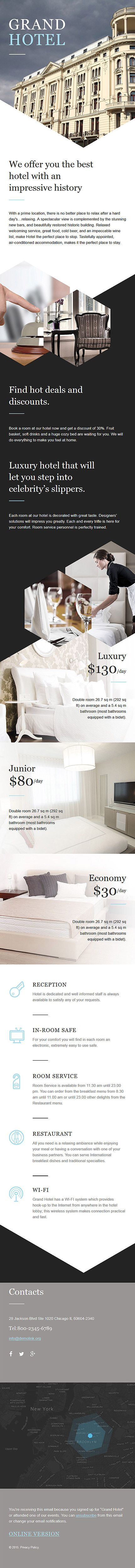 Template 57888 - Grand Hotel  Responsive Newsletter Template