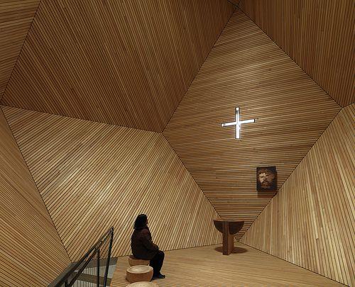"""#Cappella """"Granato"""", Penkenjoch, Zillertal, #Austria ©fotoenricocano Architetto: #MarioBotta"""