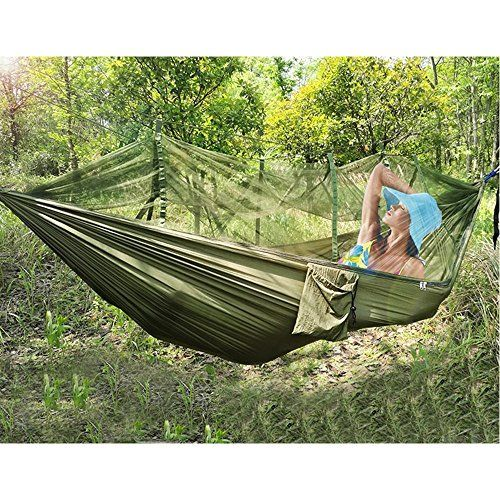 Great Camping Hammock : OJA Camping HammocksPortable Hammock with Mosquito Net Lightweight Parachute Nylon Fabric Hammock Travel Bed wiht 2 x Carabiners and Straps for Backpacking Travel Beach YardOJA Camping HammocksPortable Hammock with Mosquito Net Lightweight Parachute Nylon Fabric Hammock Travel Bed wiht 2 x Carabiners and Straps for Backpacking Travel Beach Yard -- For more information, visit image link. Note:It is Affiliate Link to Amazon.