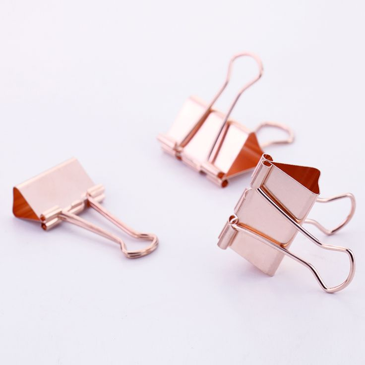 Cheap binder clips, Buy Quality colored binder clips directly from China gold binder clips Suppliers: TUTU (15pieces/lot ) 32mm beautiful rose gold color binder clip H0036