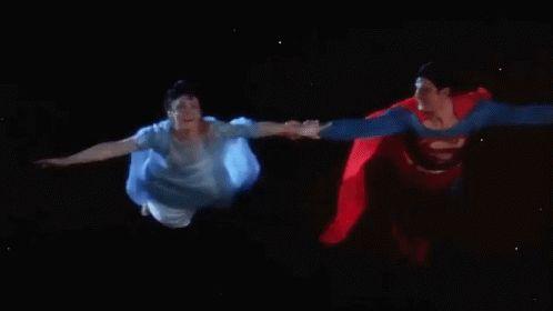 Superman Flying With Lois - Superman GIF - Superman Clarkkent ...