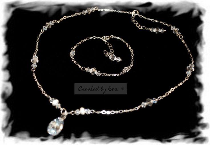 Wedding Moonlight set. Silver sterling, Swarovski elements, piece of my soul :-)